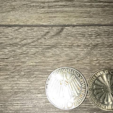 Münze  - (Geld, Deutschland, Bank)