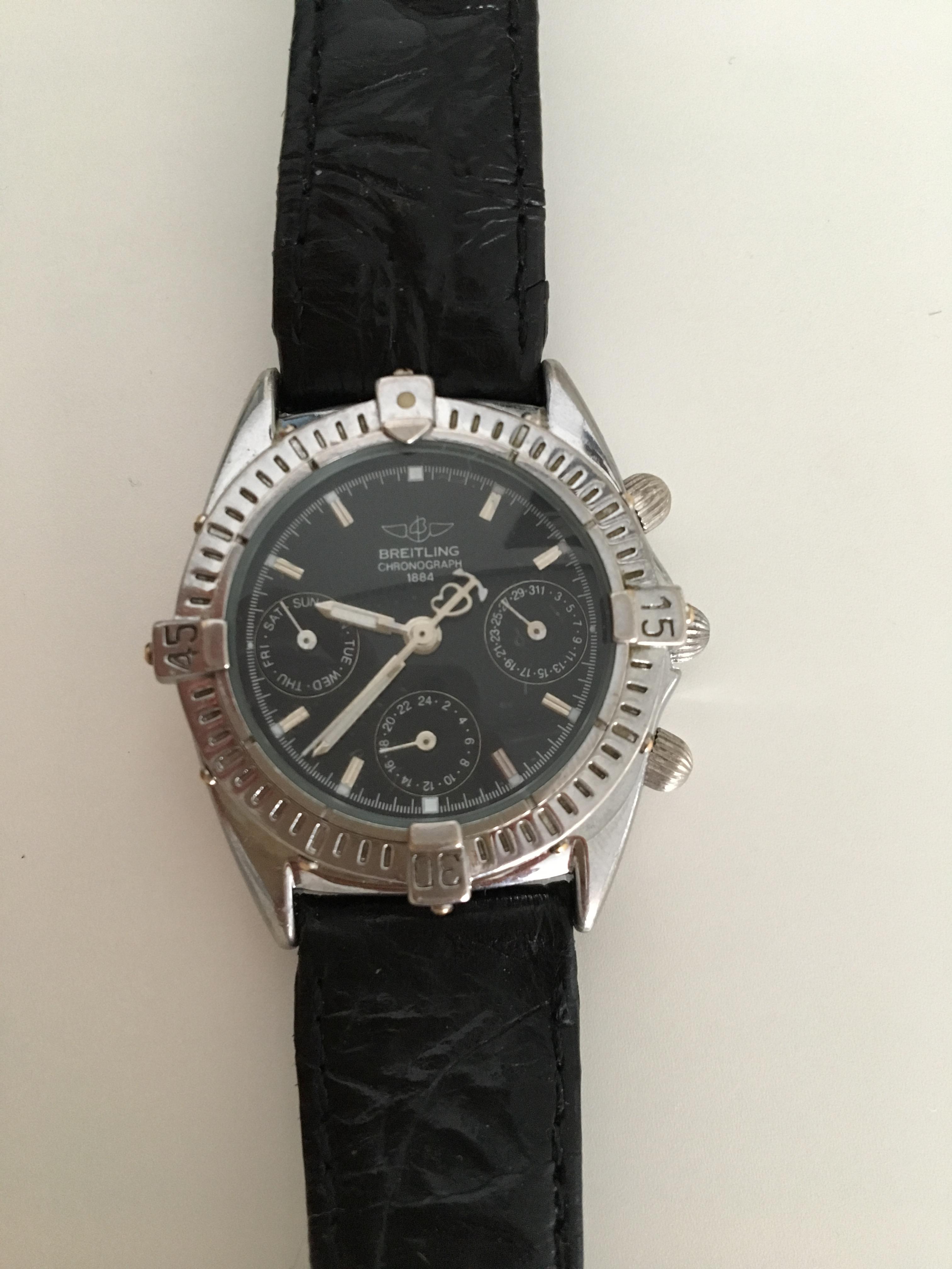 wie viel ist diese alte breitling armbanduhr wert. Black Bedroom Furniture Sets. Home Design Ideas