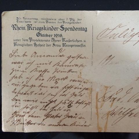 Hinterseite - (Weltkrieg, Sammler, postkarte)