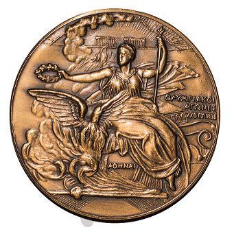 Wie viel ist eine originale bronze medaille von 1896 olympia in etwa wert?