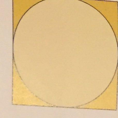 Kreis in einem quadratischen Karton  - (Mathematik, Kreis)