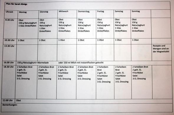 Ernährungs Plan - (abnehmen, Training)