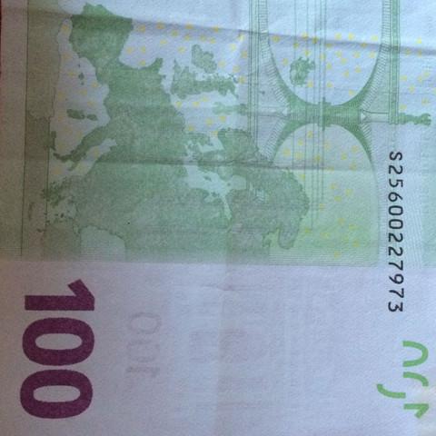 Der 100€ Schein - (Geld, Wert, Euro)