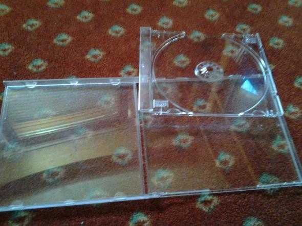 CD Hülle in weiß/Durchsichtig - (Internet, kaufen, CD)