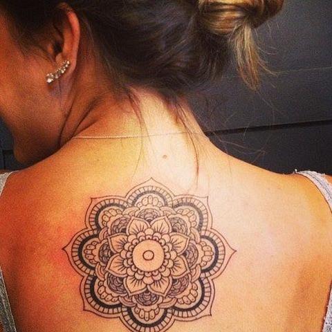 Tattoo rücken frauen Die besten