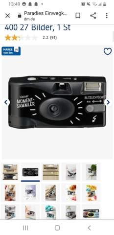 Wie viel kostet es Fotos einer Einwegkamera zu entwickeln?