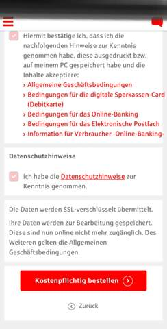 Wie viel kostet es Online Banking zu beantragen(Sparkasse)?