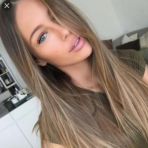 Braun gefarbte haare aschblond farben