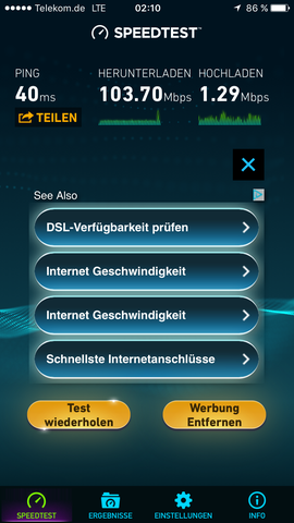 Speedtest LTE - (LTE, Speedtest)