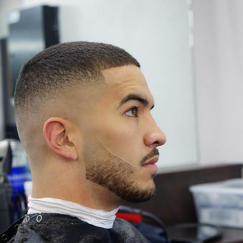 Übergang mit 3mm haarschnitt