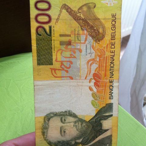 200 belgische Franken  - (Geld, Finanzen, Wirtschaft)