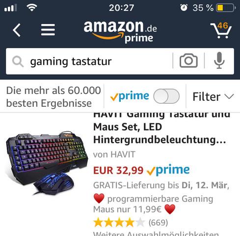 Wie viel sollte bei einem Gaming PC für 600€ - 700€ die Tastatur und Maus kosten?