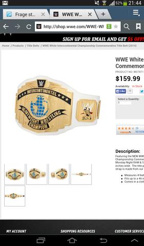 Wie viel wiegt der commemorativ IC title von der WWE 2014?