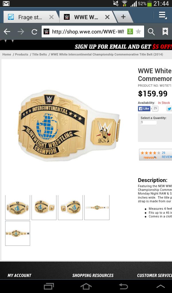 d9d25002d9418 Wie viel wiegt der commemorativ IC title von der WWE 2014  (Wrestling