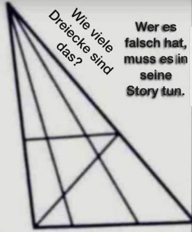 Wie viele Dreiecke sind da? (Mathe, Mathematik, Rätsel)