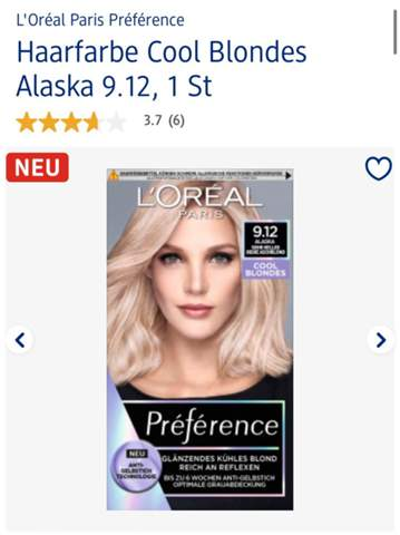 Wie viele Packungen Loreal Preference (lange Haare)?