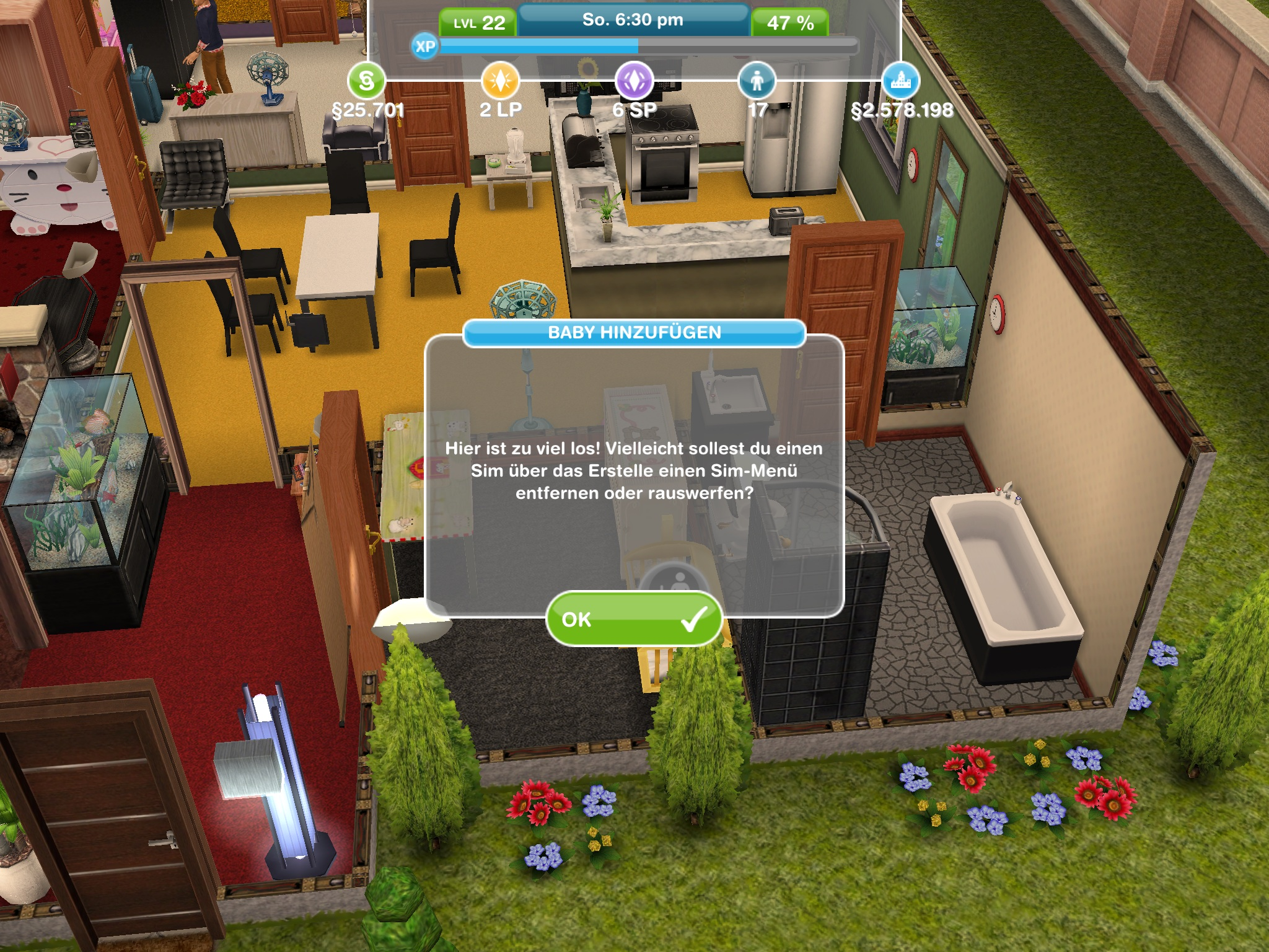 wie viele personen k nnen in sims freeplay in einem haus. Black Bedroom Furniture Sets. Home Design Ideas