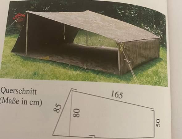 Wie viele Zeltbahnen benötigt man ,wenn Grund und Deckfläche nicht verschlossen werden?