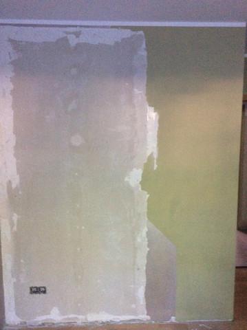 Gipsbetonwand 1 - (Handwerk, malen, Malerarbeiten)