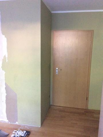 Gipsbetonwand Türbereich - (Handwerk, malen, Malerarbeiten)