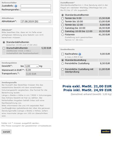 - (Recht, PayPal, Paket)
