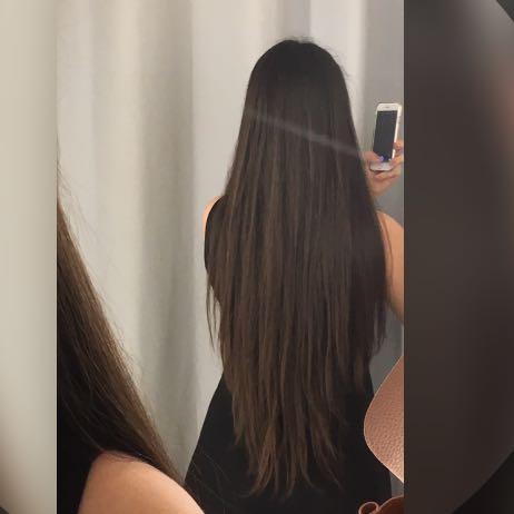 Lange Haare Gerade Geschnitten Haarschnitte Beliebt In Europa