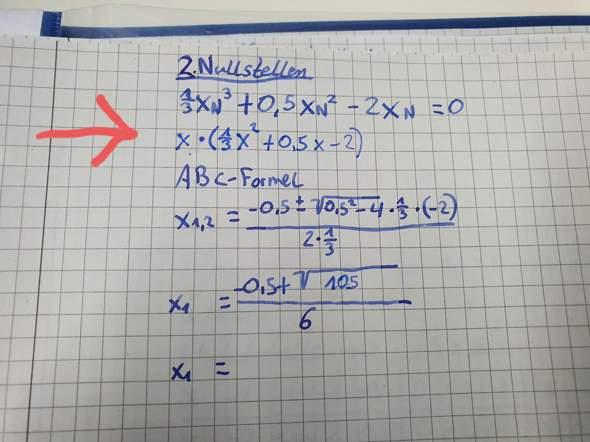 Wie wende auf diese Gleichung die ABC Formel an?