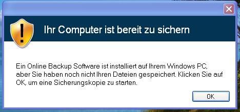 Popup-Fenster, offensichtlich unseriöser Schrott - (Computer, PC, Virus)
