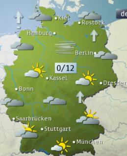 wie werden die st dte auf der karte der wettervorhersage ausgew hlt fernsehen deutschland. Black Bedroom Furniture Sets. Home Design Ideas