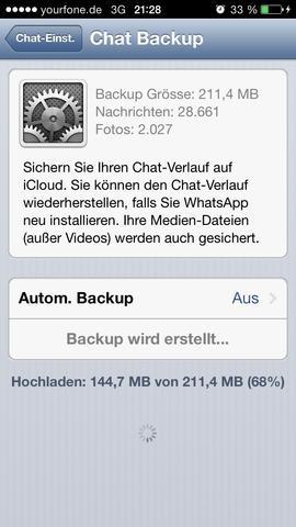 So siehts seit längerer Zeit aus. - (WhatsApp, Telekommunikation)