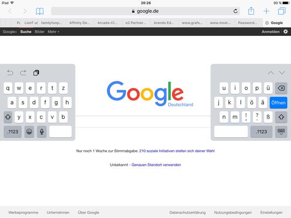 Tastatur  - (iPad, ios)