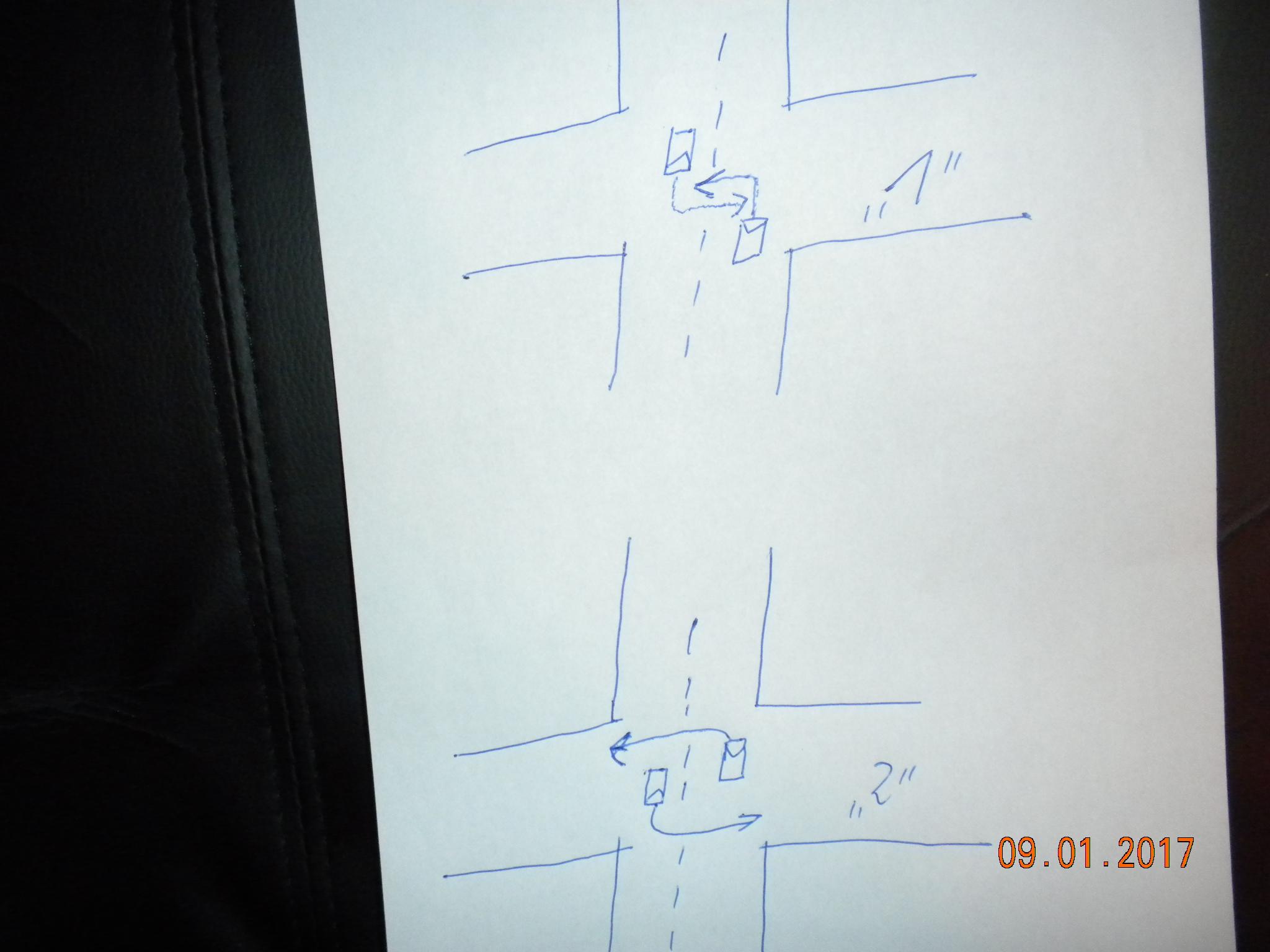 wie wird an kreuzungen richtig links abgebogen bei gegenverkehr siehe skizze stra enverkehr. Black Bedroom Furniture Sets. Home Design Ideas