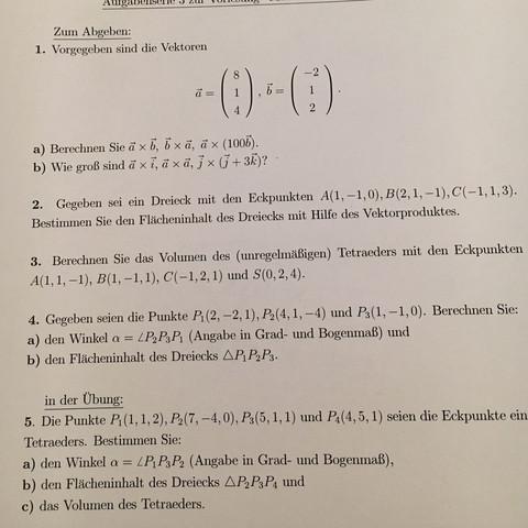 Siehe anhang - (Mathematik, vektoren, Tetraeders)