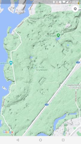 Wie wird die Topografie in Google Maps erfasst?