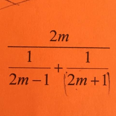 Lösung (2m-1)(2m+1)/2 - (Schule, Mathematik, Physik)