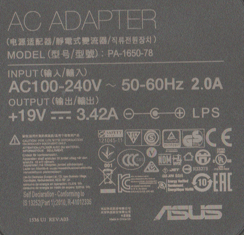 Original-ASUS Stecker-Netzteil Notebook PU551JA - (Elektronik, Notebook, Laden)