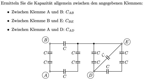 Wie wird vereinfacht, wenn mehrere Klemmen gegeben sind?