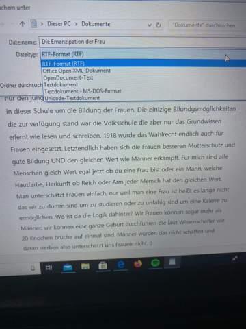 - (Computer, Windows 10, Word)