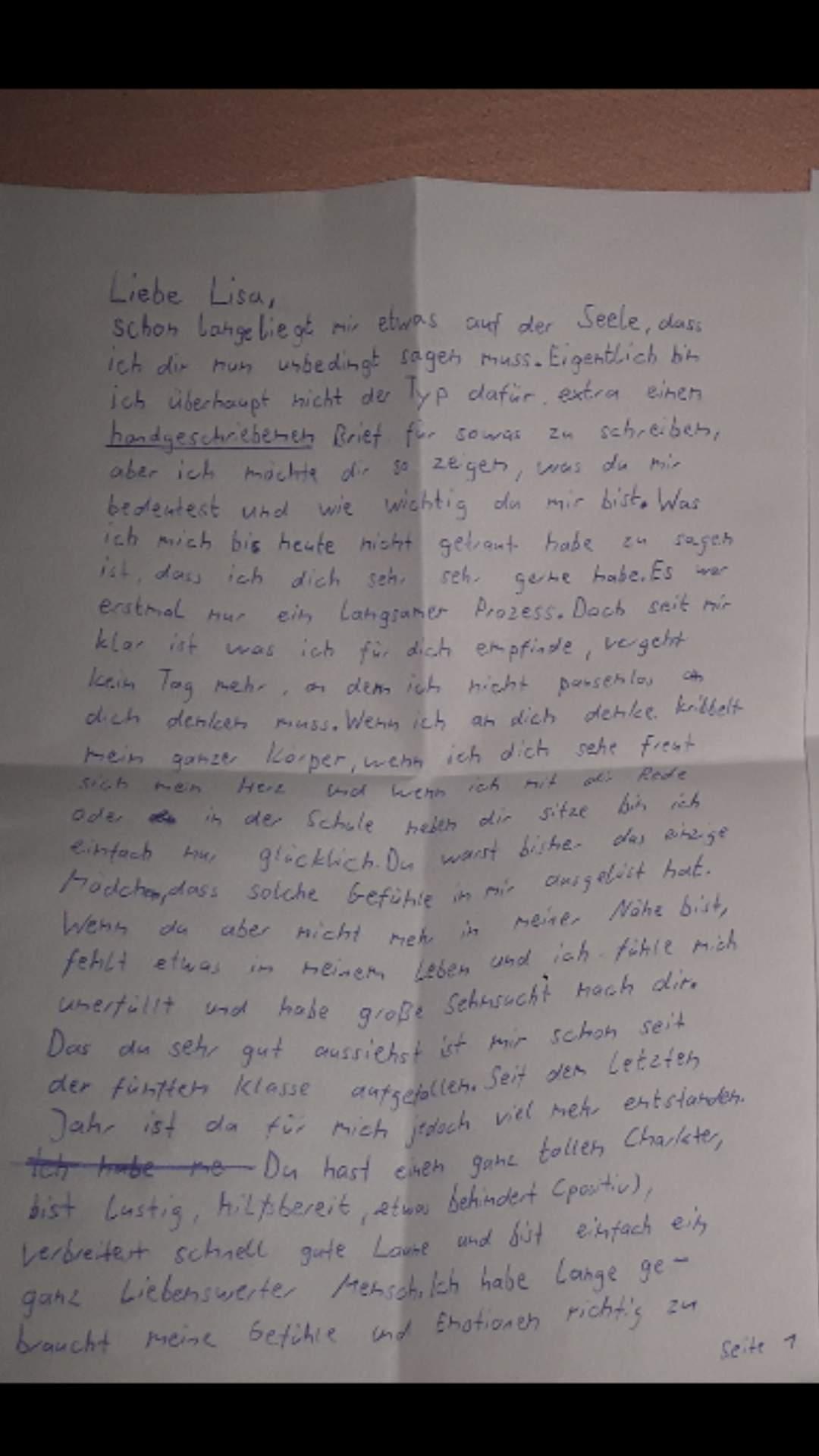 liebesbrief schreiben kennenlernen