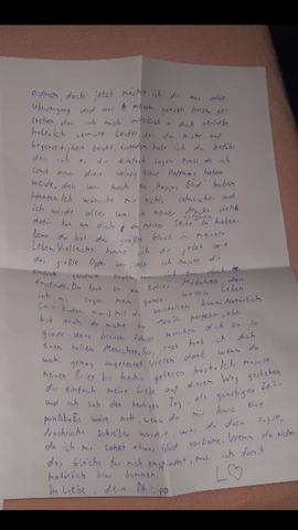 süßer Liebesbrief für sie