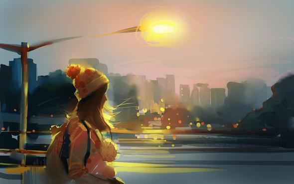Das Mädchen und die Stadt - (Bilder, Interpretation)
