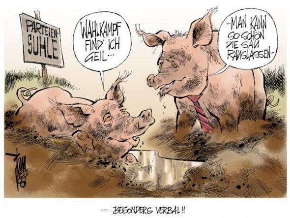 Wie würdet ihr diese Karikatur interpretieren?