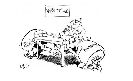 Wie würdet ihr diese Karikatur interpretieren (Bundestag)?
