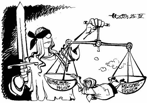 Karikatur  - (Religion, Karikatur, Kopftuch)