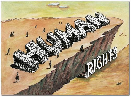 menschenrechte - (Menschenrechte, Karikatur)