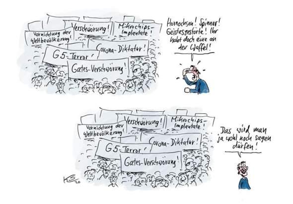 Wie würdet ihr diese Karikatur von Klaus Stuttmann deuten?