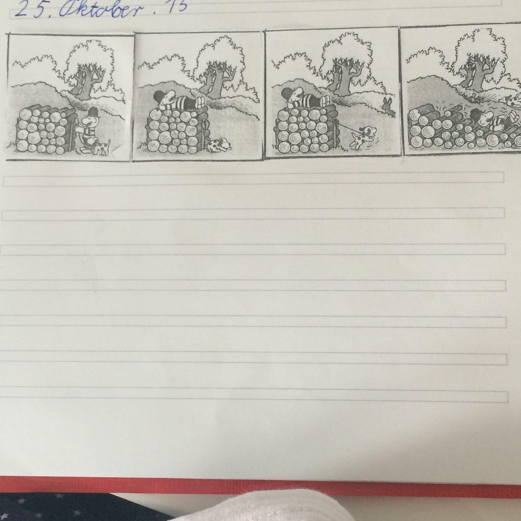 Bildergeschichte 3 klasse aufsatz