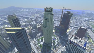 Los Santos minecraft - (Minecraft, Mods, GTA 5)