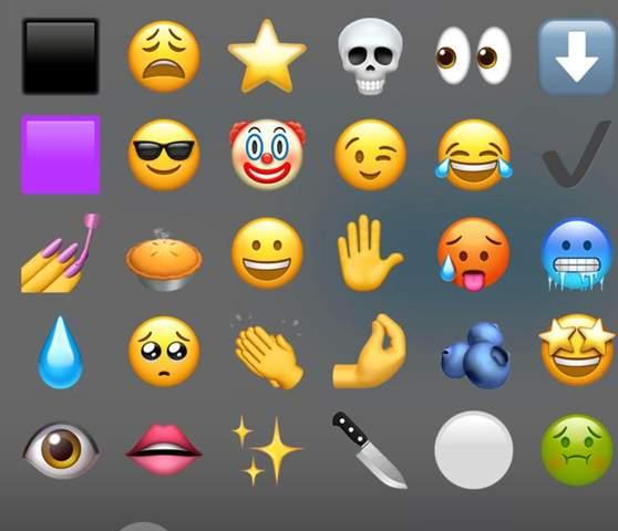Wie zählt man Emojis auf der Apple Tastatur?