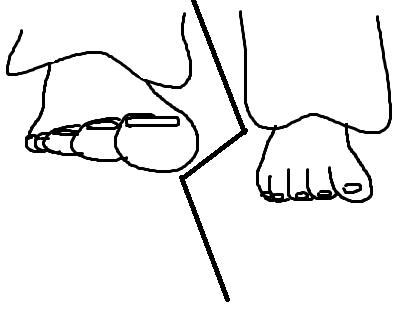 die füße - (zeichnen, füße zeichnen)